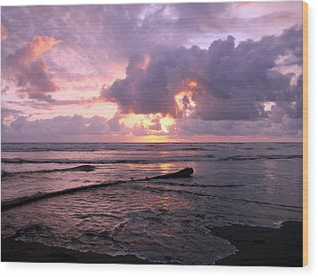 Wood Print featuring the photograph Purple Pink Sunset by Athena Mckinzie