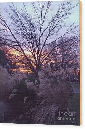 Wood Print featuring the photograph Purple Sunset by Lyric Lucas