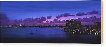 Purple Sunset Wood Print by Michael Guirguis