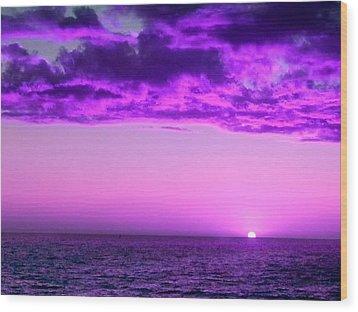 Purple Sunset Wood Print by Steed Edwards