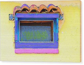 Purple Window Wood Print
