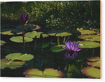Purplette Wood Print by Doug Norkum