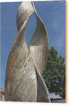 Purpurea Mosaic Wood Print by Deborah Smolinske