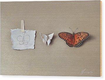 Pursuit Of A Dream Wood Print by Elena Kolotusha