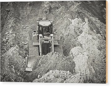 Pushing Dirt Wood Print