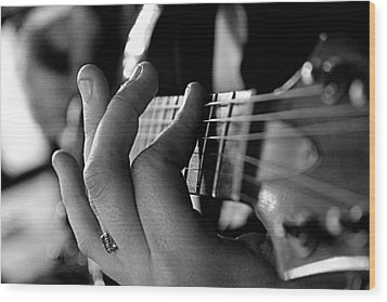 Wood Print featuring the photograph Pushing Frets by Bartz Johnson