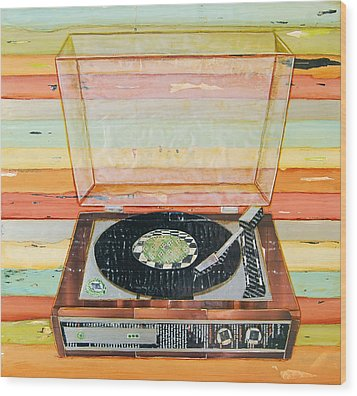 Put A Needle On The Record Wood Print