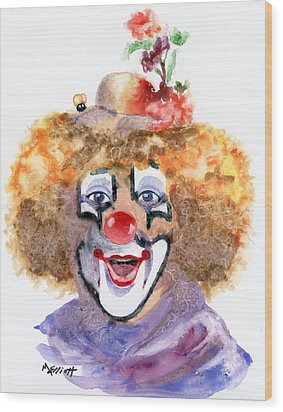Put On A Happy Face Wood Print by Marsha Elliott