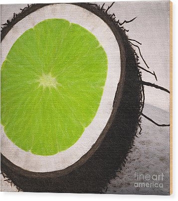 Put The Lime In The Coconut Wood Print by Philip G