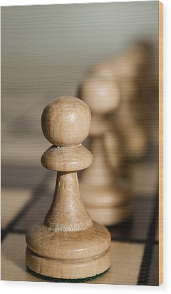Pawns Wood Print