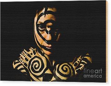 Pw Ar001 Wood Print by Kristen R Kennedy