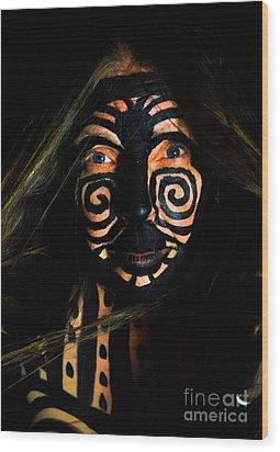 Pw Db013 Wood Print by Kristen R Kennedy