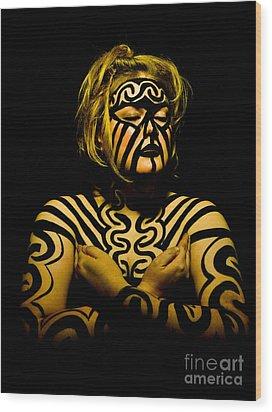 Pw Jk001 Wood Print by Kristen R Kennedy
