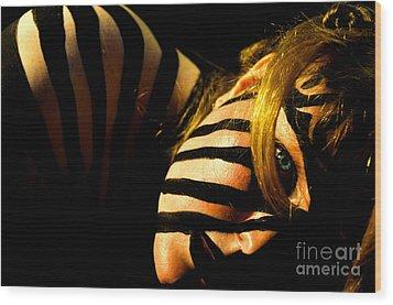 Pw Jk003 Wood Print by Kristen R Kennedy