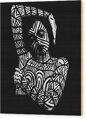 Pw Ml005 Wood Print by Kristen R Kennedy