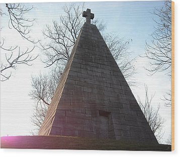 Wood Print featuring the photograph Pyramid At Dusk by Christophe Ennis
