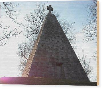 Pyramid At Dusk Wood Print