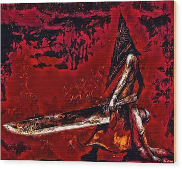 Pyramid Head Wood Print