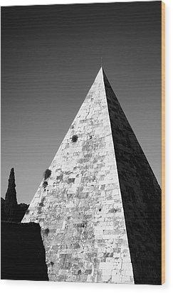 Pyramid Of Cestius Wood Print