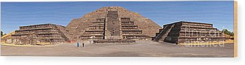 Pyramid Of The Moon Panorama Wood Print by Sean Griffin