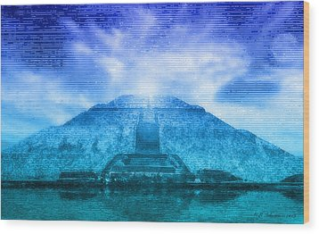 Pyramid Of The Sun Wood Print by WB Johnston