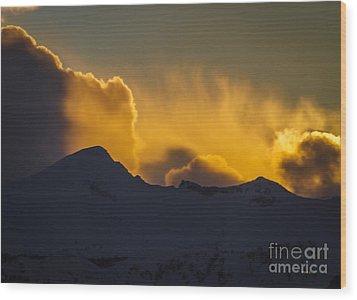 Pyramid Peak Wood Print by Mitch Shindelbower