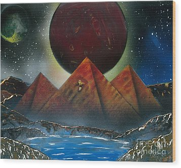 Pyramids 4663 Wood Print by Greg Moores