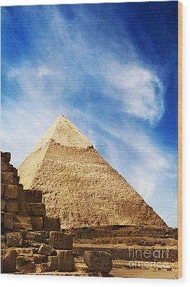 Pyramids In Egypt  Wood Print by Jelena Jovanovic