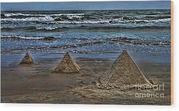 Pyramids Wood Print by Jeff Breiman