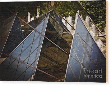 Pyramids Reflected Wood Print by Tom Gari Gallery-Three-Photography