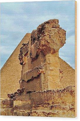 Pyramid's Temple  Wood Print by Karam Halim