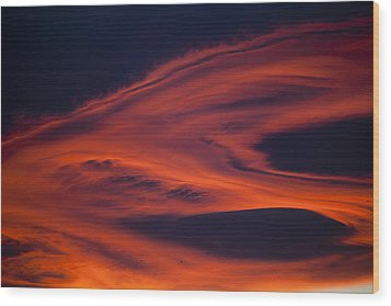 Pyroclastic Wood Print by Goyo Ambrosio