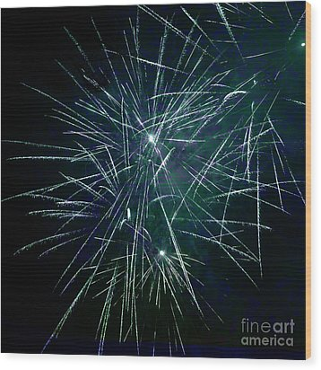 Pyrotechnic Delight Wood Print by John Stephens