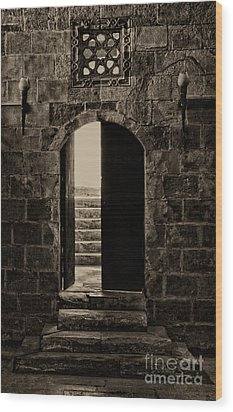 Qalawun Doorway Cairo Wood Print