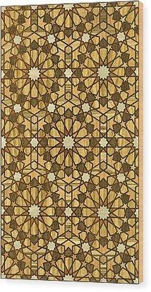 Qarawiyyin Mosque Geometric Pattern 1 Wood Wood Print by Hakon Soreide