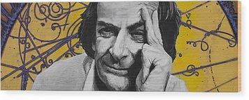 Qed- Richard Phillips Feynman Wood Print by Simon Kregar