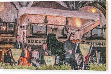 Quadri Orchestra Venice Wood Print