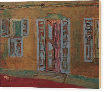 Quaint Home Wood Print by Oscar Penalber