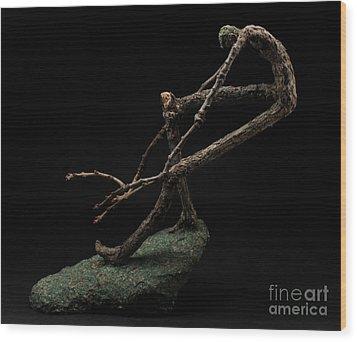 Quake Wood Print by Adam Long