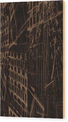 Wood Print featuring the digital art Quake - Ground Zero by GJ Blackman