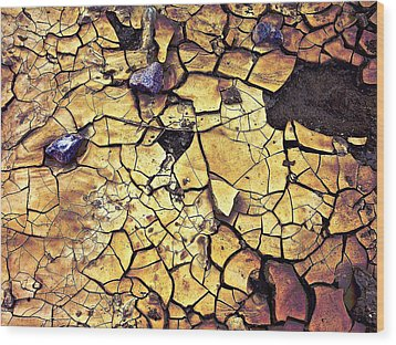 Wood Print featuring the sculpture Quaken Earth by Dan Redmon