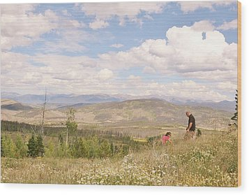 Wood Print featuring the photograph Quality Time by Shirley Heier