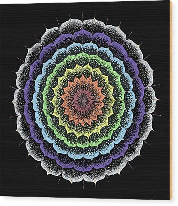 Quan Yin's Healing Wood Print by Keiko Katsuta