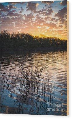 Quanah Parker Lake Sunrise Wood Print by Inge Johnsson