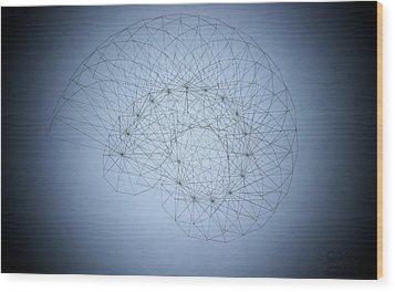 Quantum Nautilus Spotlight Wood Print by Jason Padgett