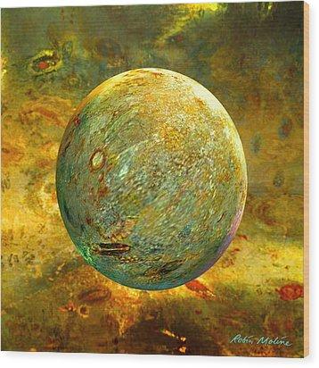 Quantum Soul...orb Of Light Wood Print by Robin Moline
