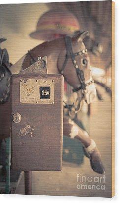 Quarter Horse Wood Print by Edward Fielding