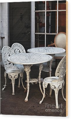 Quarter Tables Wood Print by John Rizzuto
