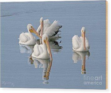 Quartet's Reflections Wood Print