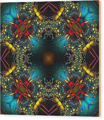 Quasar Kaleidoscope No 1 Wood Print